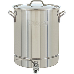 8 Gallon/32 Quart Stainless Steel Stockpot with Spigot